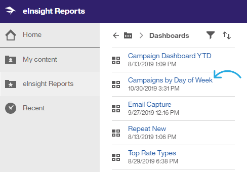 Reports_Dashboards_Select_CampaignsDayofWeek.png